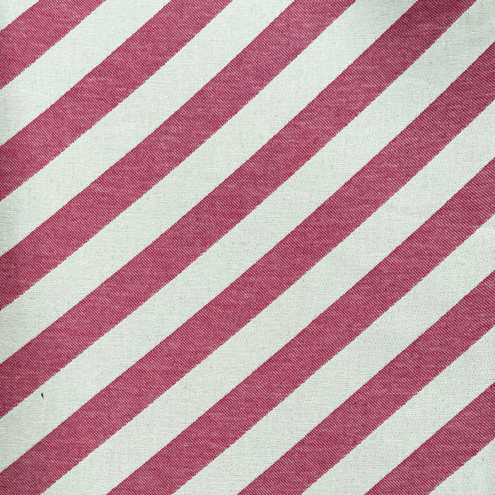 Totto Stripe Cotton Fabric Radish