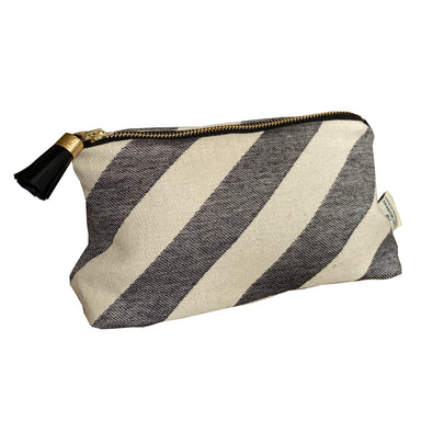 Totto Stripe Small Wash Bag Black