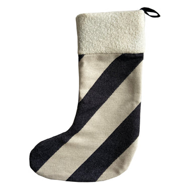 Totto Stripe Christmas Stocking Black