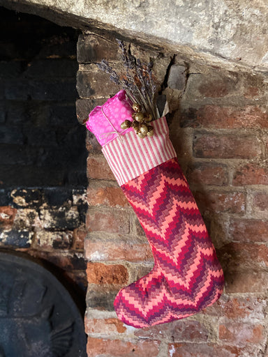 Abbey Florentine Christmas Stocking Red