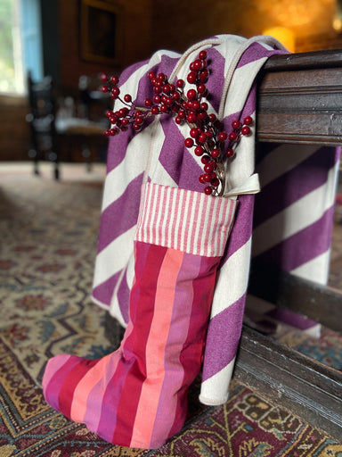 Blazer Stripe Christmas Stocking Red