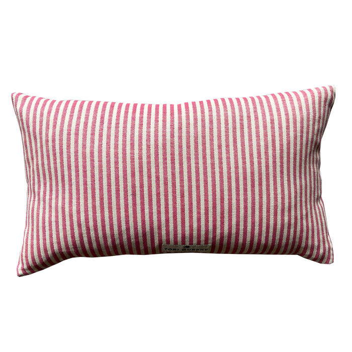 Blazer Stripe Sweetie Cushion Red
