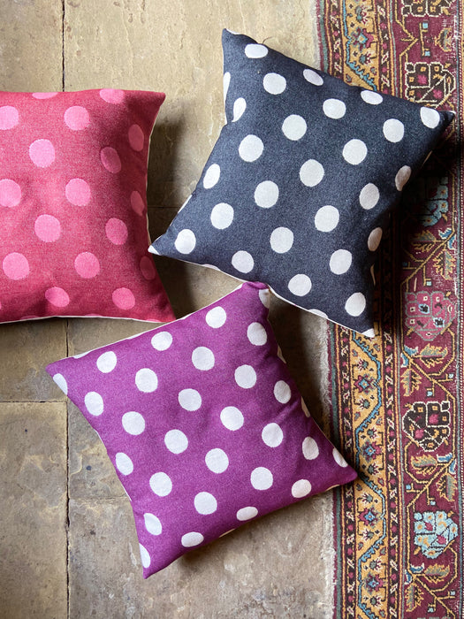 Dotty Spot Cushion Black