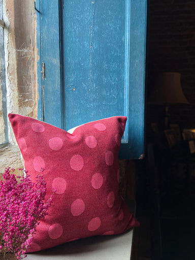 Dotty Spot Cushion Red & Pink