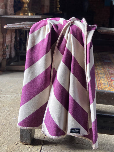 Totto Stripe Throw Hyacinth