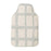 Merino Lambswool Hot Water Bottle | Kensal Check Grey on Linen | Tori Murphy Ltd