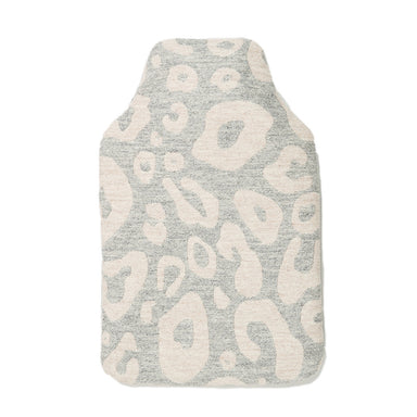 Merino Lambswool Hot Water Bottle | Hamilton Spot Linen on Grey | Tori Murphy Ltd