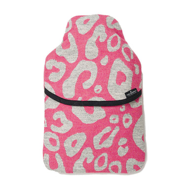Merino Lambswool Hot Water Bottle | Hamilton Spot Grey on Hot Pink | Tori Murphy Ltd