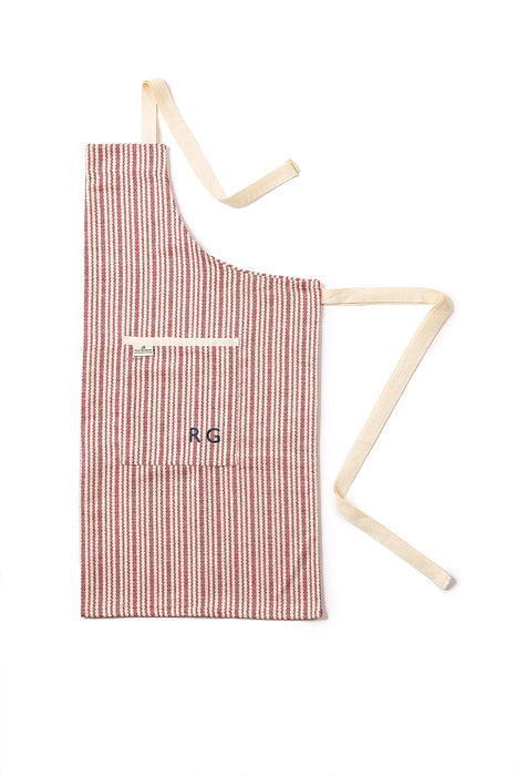 Harbour Stripe Apron Black & Ecru