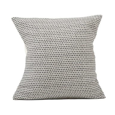 Classic Clarendon Cushion Black on Linen