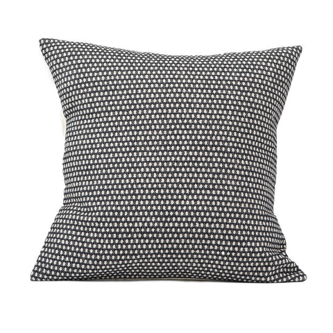 Classic Clarendon Cushion Linen on Black