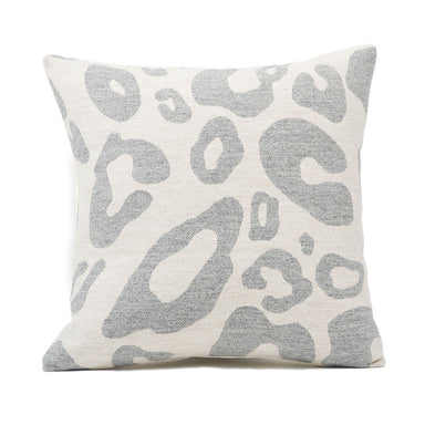 Hamilton Large Spot Cushion Grey on Linen