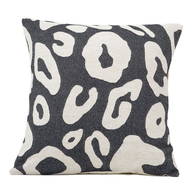 Hamilton Large Spot Cushion Linen on Black