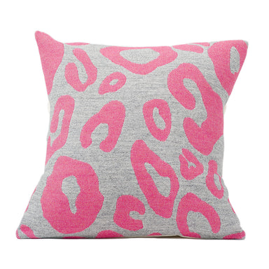 Hamilton Large Spot Cushion Hot Pink on Grey