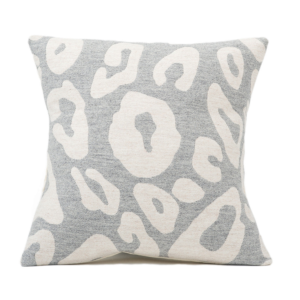 Hamilton Large Spot Cushion Linen on Grey