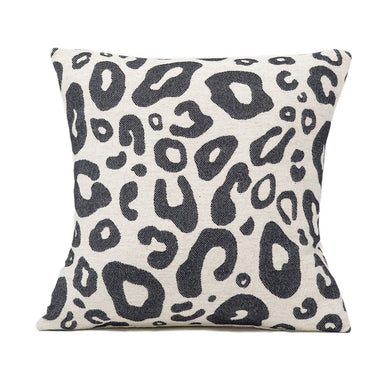 Hamilton Small Spot Cushion Black on Linen