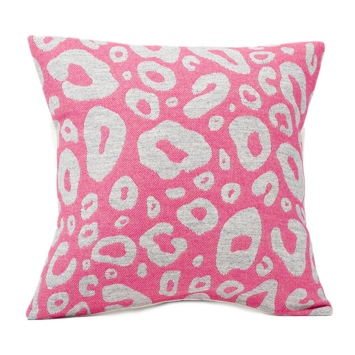 Hamilton Small Spot Cushion Grey on Hot Pink