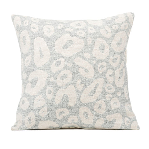 Hamilton Small Spot Cushion Linen on Grey