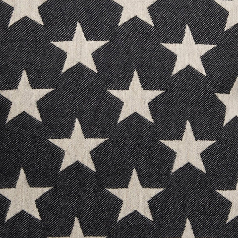 Antares Star Wool Fabric Black and Linen