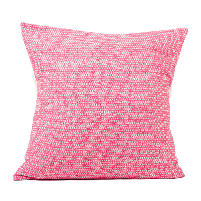 Classic Clarendon Cushion Grey on Hot Pink