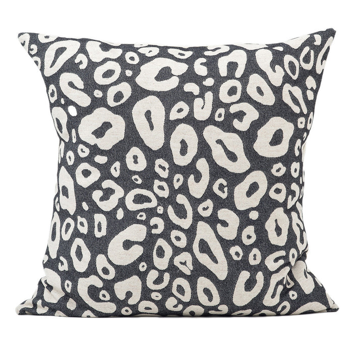 Hamilton Small Spot Cushion Linen on Black