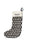 Large Broadway Pattern Christmas Stocking Charcoal on Black