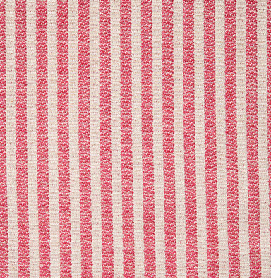 Harbour Stripe Cotton Fabric Radish