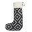 Merino Lambswool Christmas Stocking - Broadway Large Charcoal on Black Stocking - Tori Murphy Ltd