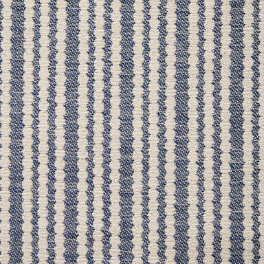 Scallop Stripe Cotton Fabric Navy