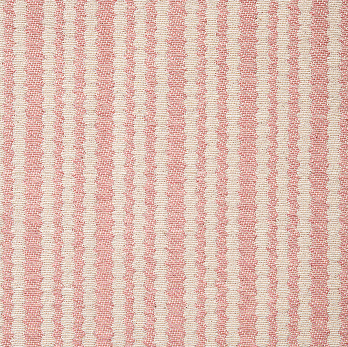 Scallop Stripe Cotton Fabric Rose