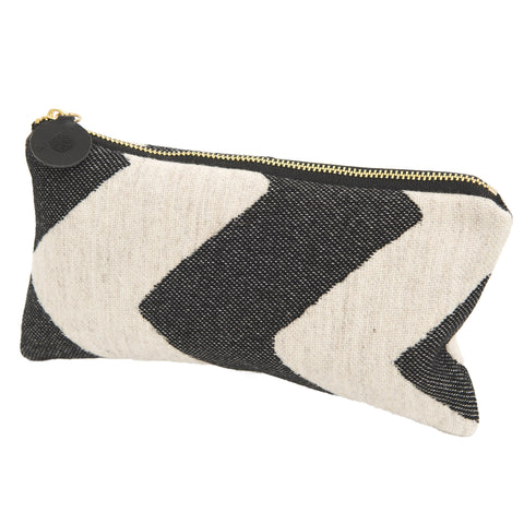 Chevy Zip Purse Black/Linen