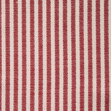 Harbour Stripe Cotton Fabric Claret