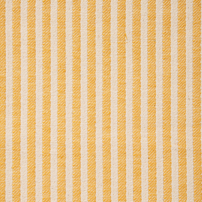Harbour Stripe Cotton Fabric Mustard