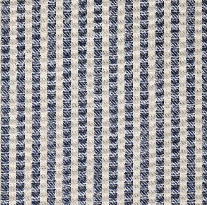 Harbour Stripe Cotton Fabric Navy