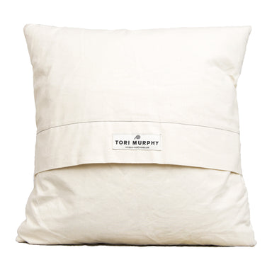 Large Antares Star Cushion Black on Linen