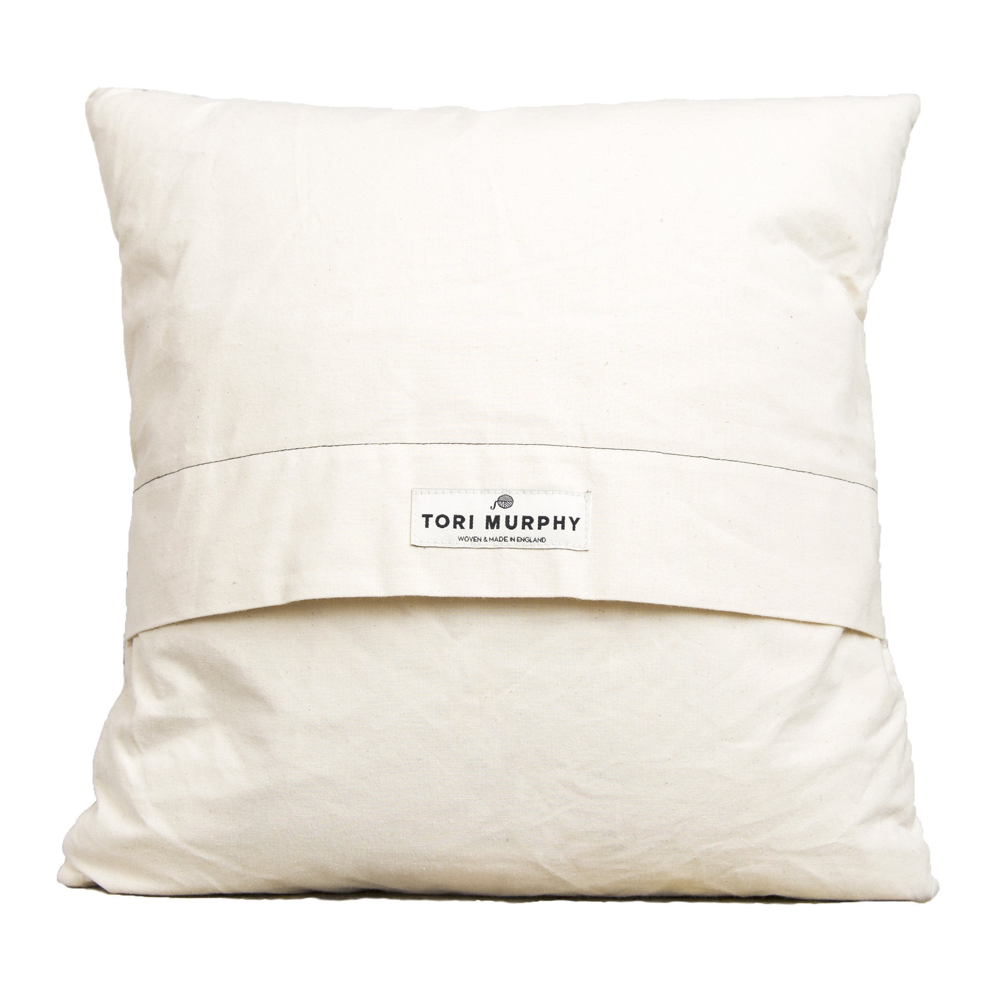 Large Antares Star Cushion Linen on Black
