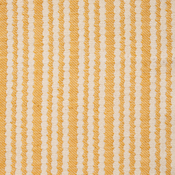 Scallop Stripe Cotton Fabric Mustard