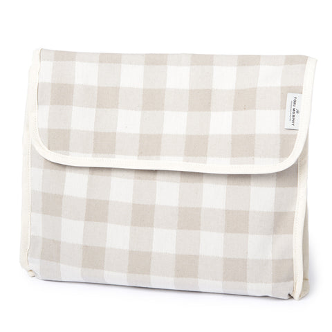 Woodhouse Check Wash Bag Fawn