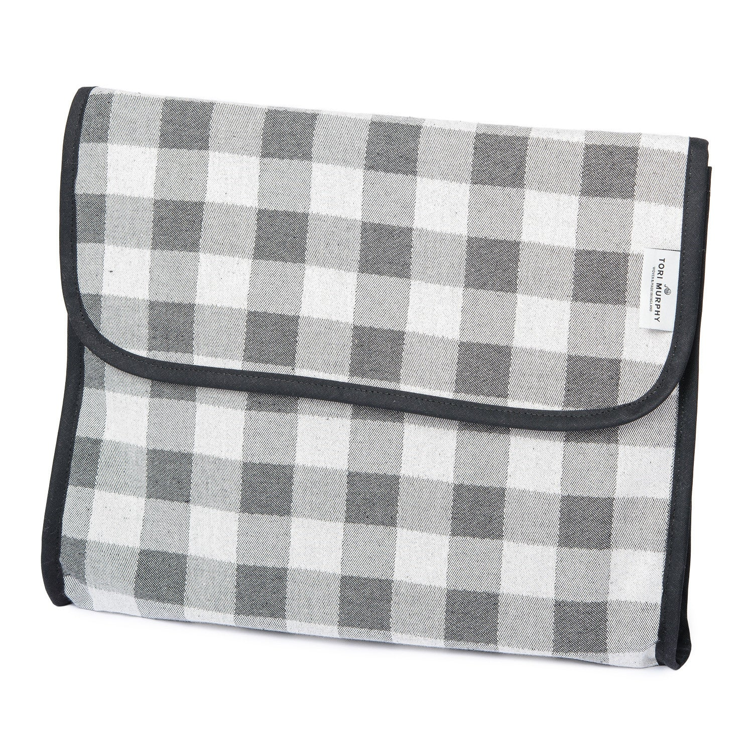 Woodhouse Check Wash Bag Black