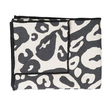 Hamilton Large Spot Throw Linen and Black