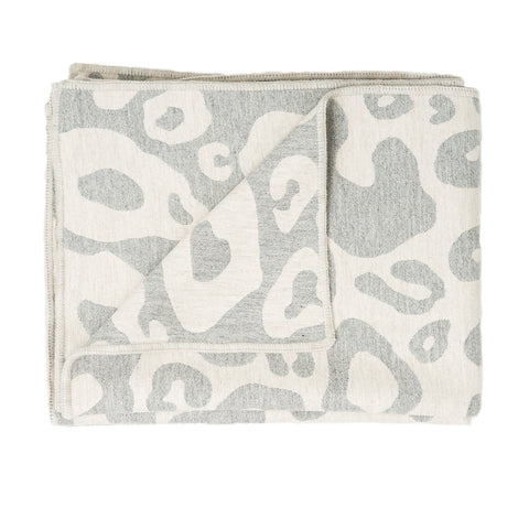 Hamilton Large Spot Throw Linen and Grey