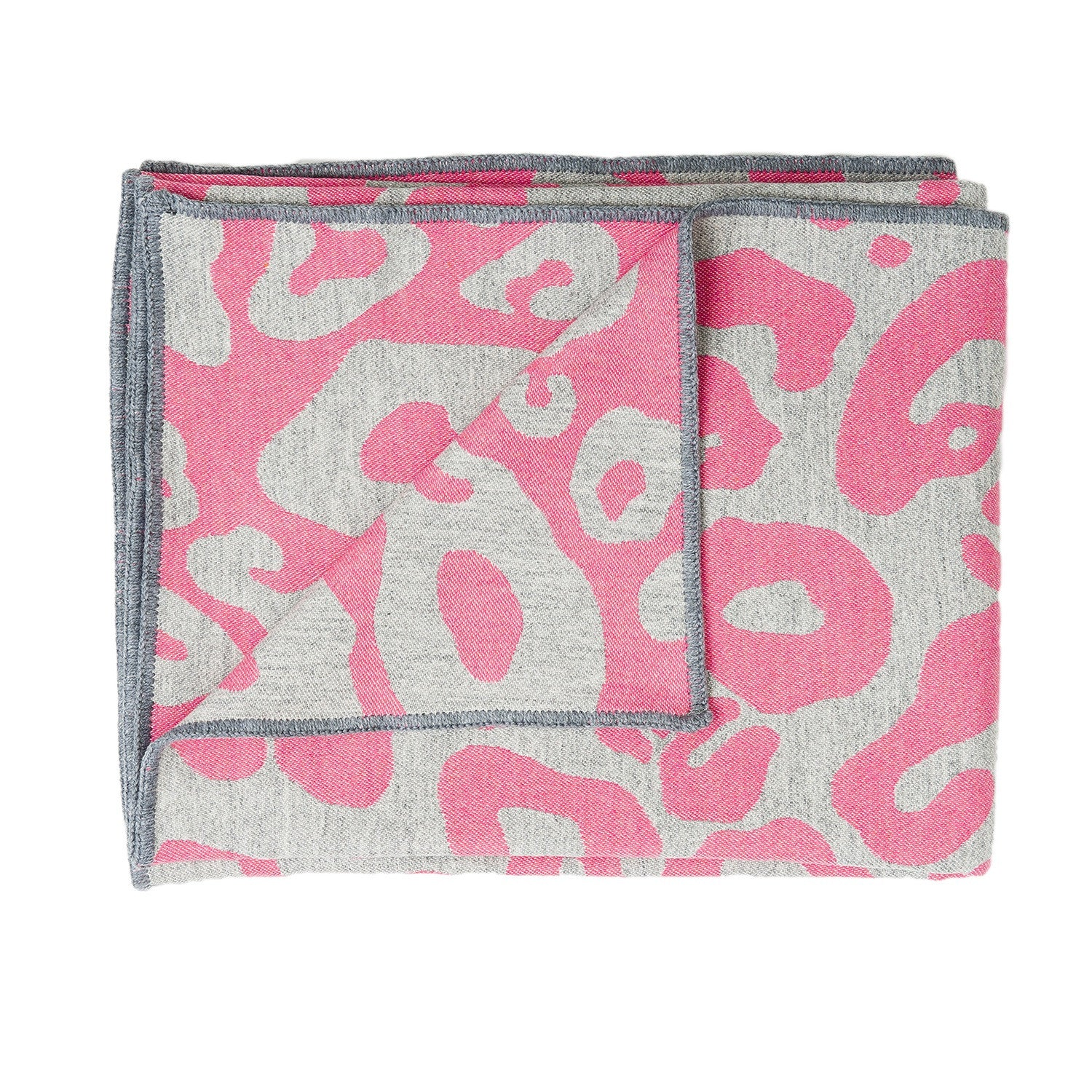 Hamilton Large Spot Throw Hot Pink and Grey
