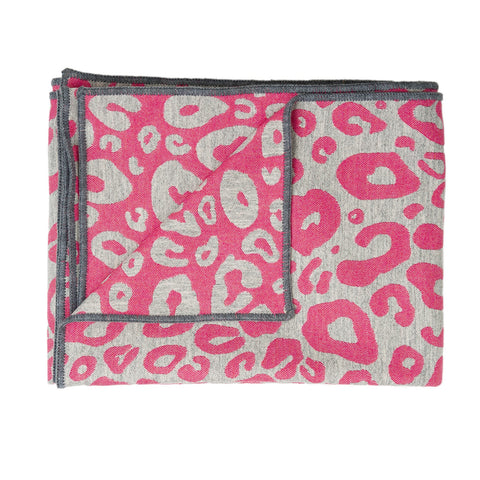 Hamilton Small Spot Throw Hot Pink and Grey
