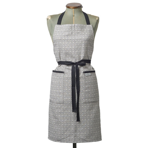 Broadway Apron Black on Linen