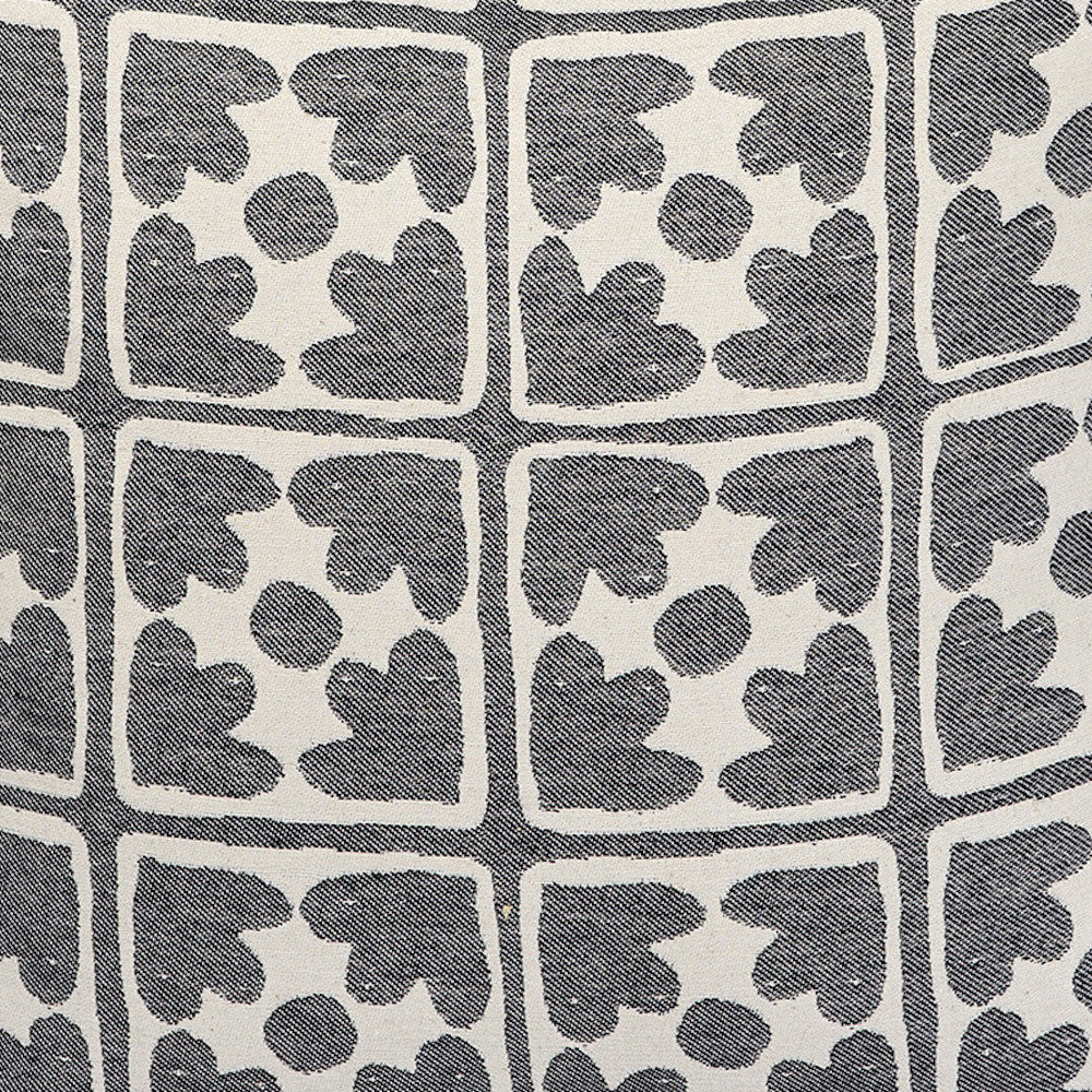 Bloom Cotton Fabric Black