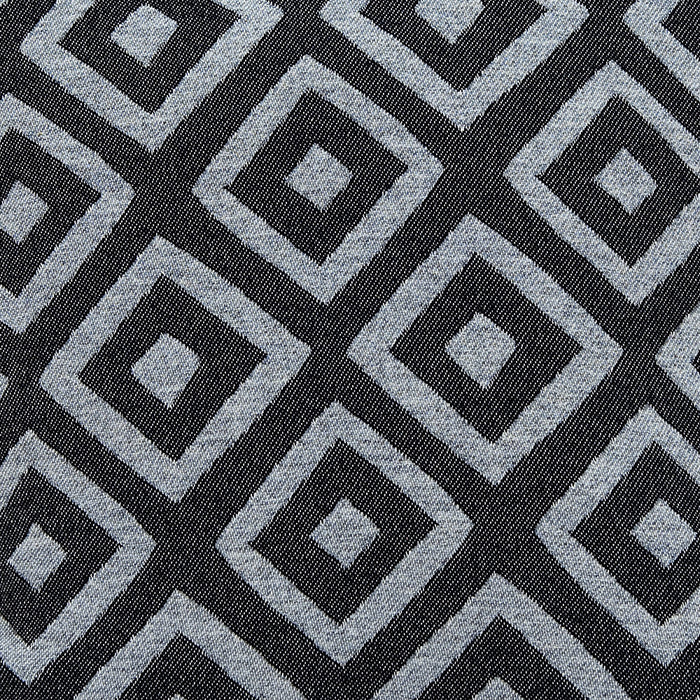 Broadway Wool Fabric Charcoal and Black