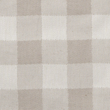 Woodhouse Check Cotton Fabric Fawn
