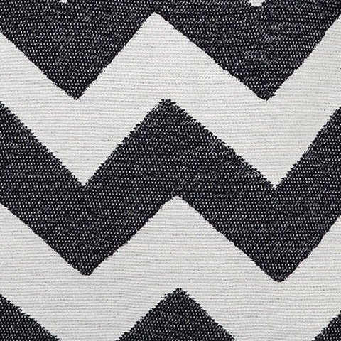Chevy Chenille Fabric Black and Linen