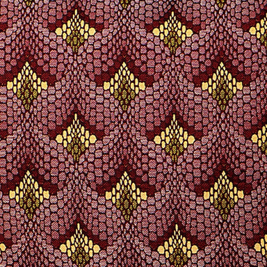 Tapestry Cotton Fabric Claret