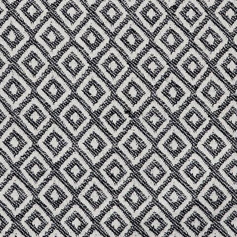 Broadway Cotton Fabric Black and Linen